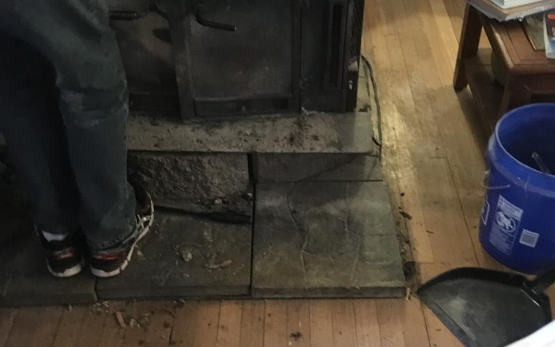 Improper installation of a wood burning stove causes a dangerous situation