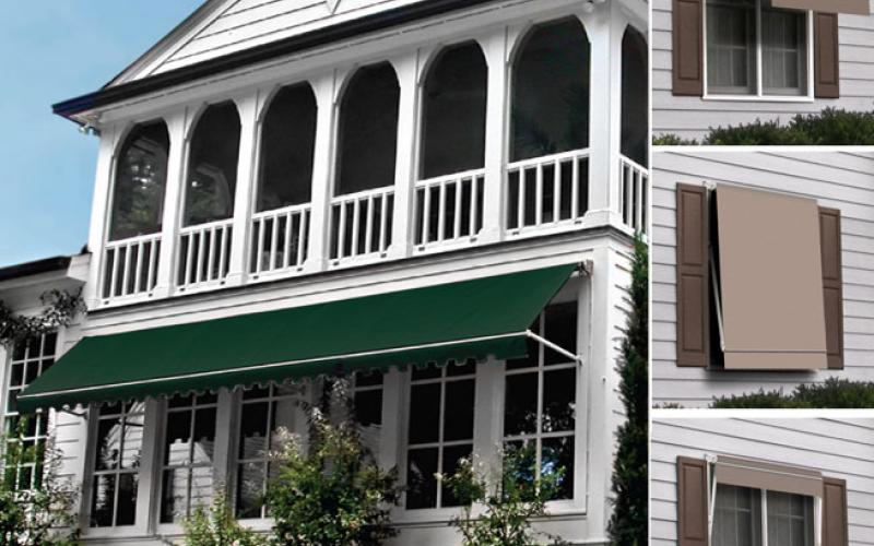 Retractible awnings add a stylish finish to any home.